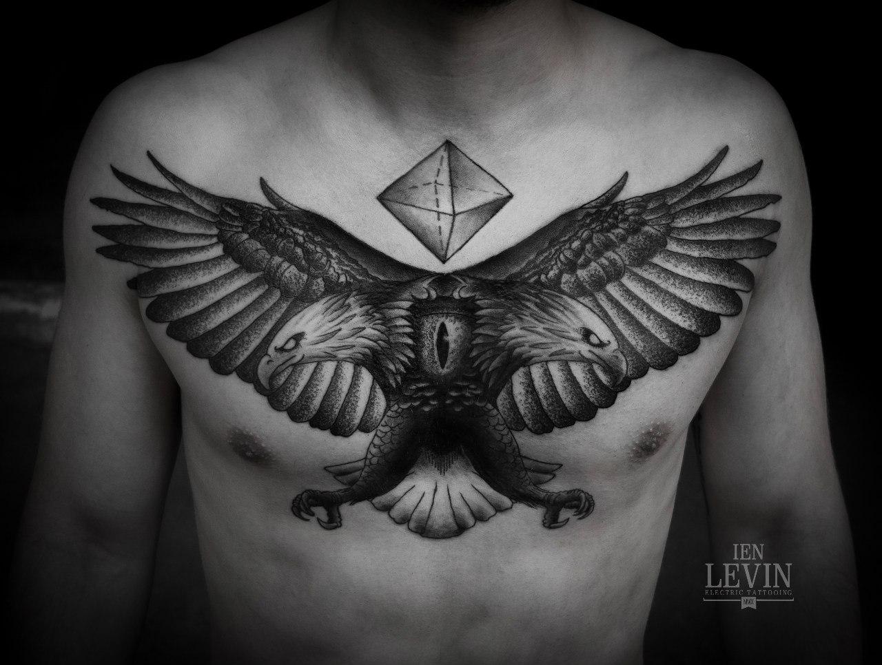 Head eagle dotwork tattoo by ien levin best tattoo ideas gallery