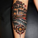 Chain Stick to Course Ship Nautical tattoo