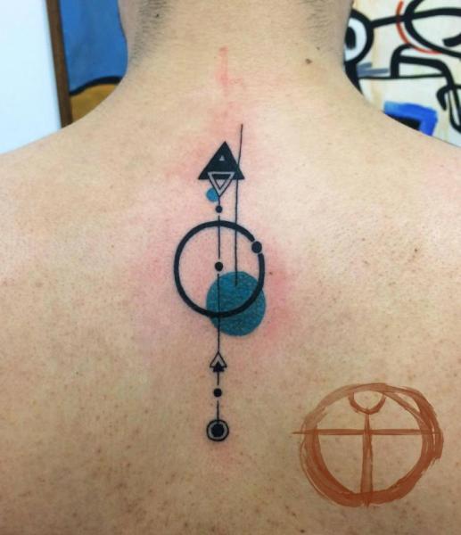 Circles and Triangles Back tattoo by Galata Tattoo