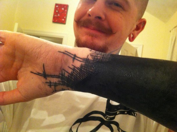 Cloth Rags Blackwork tattoo sleeve Edge