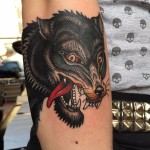 Crazy Coyote tattoo by Alfredo Guarracino