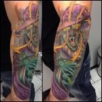 Crazy Wizard tattoo by Jacob Wiman