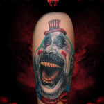 Creepy Funny Clown New School tattoo by Hellyeah Tattoos