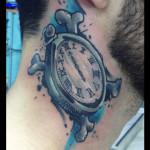 Cross Bones Clock tattoo by Live Two