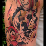 Crying Skull tattoo by Live Two