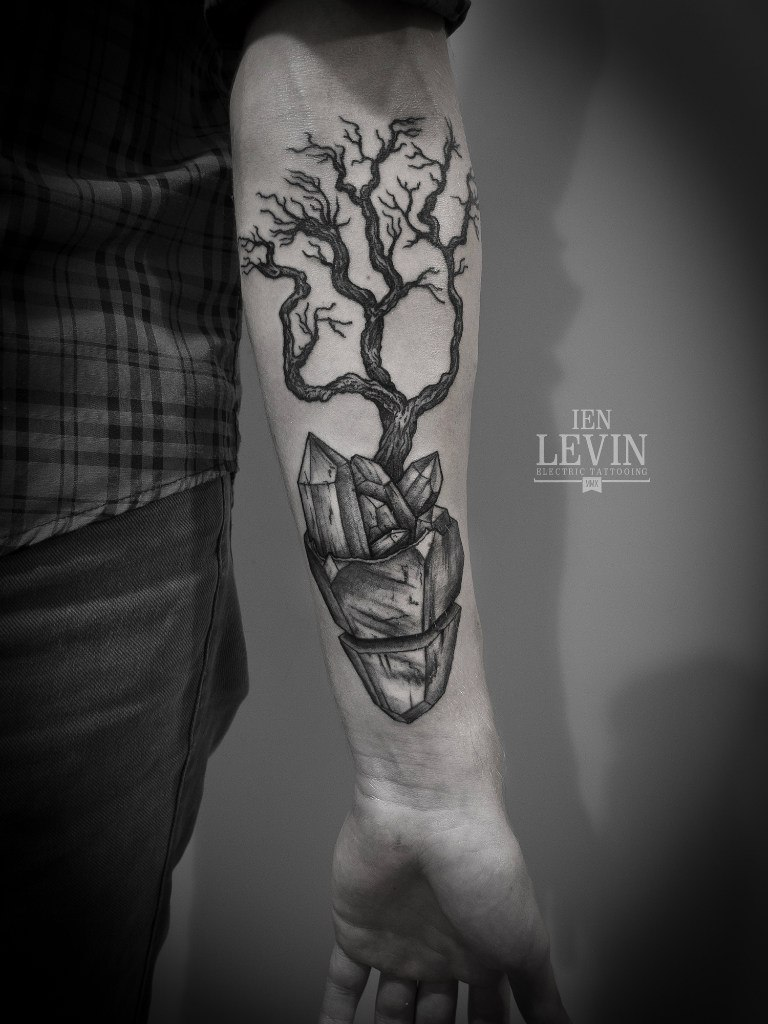 crystal roots tree dotwork tattoo by ien levin best tattoo ideas gallery. Black Bedroom Furniture Sets. Home Design Ideas