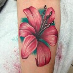 Cute Arm Flower tattoo by Tantrix Body Art