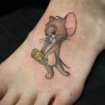 Cute Jerry Tom & Jerry tattoo by Skin Deep Art
