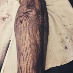 Woodgrain Tattoo by DAVID ALLEN