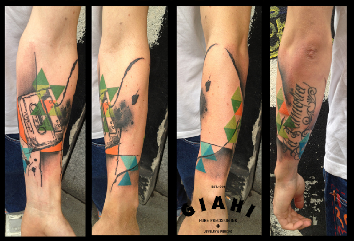 Damaged Tape tattoo by Live Two