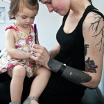 Daughter and Mother Blackwork tattoo