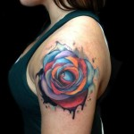 Different Color Rose Aquarelle tattoo by Andres Acosta