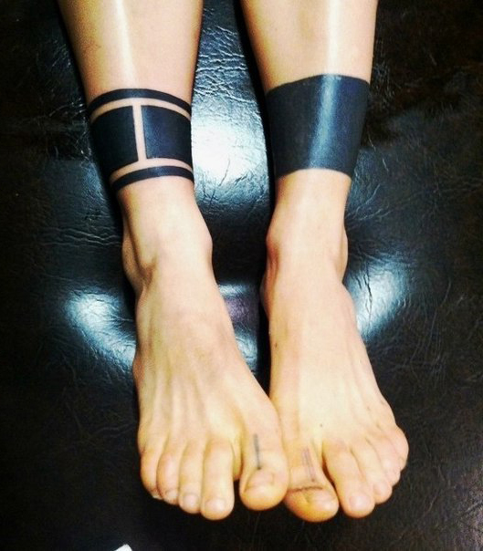 Different Leg Bracers Blackwork Tattoo  Best Ideas Gallery