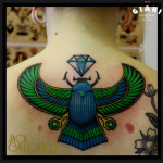 Dimond Egypt Bug tattoog by Jack Gallowtree