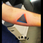 Dispersion Triangle tattoo by Live Two