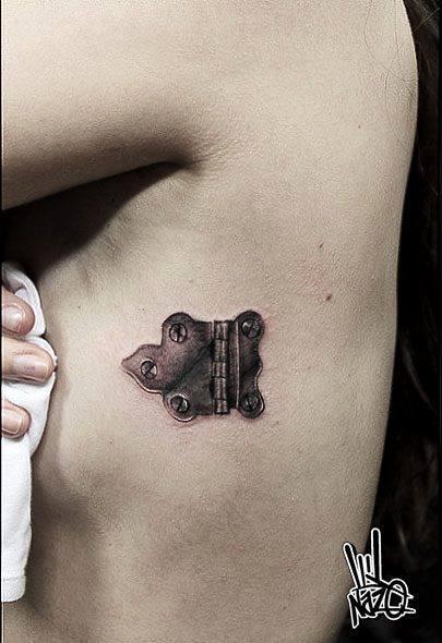 Door Hinge Graphic tattoo by Nazo