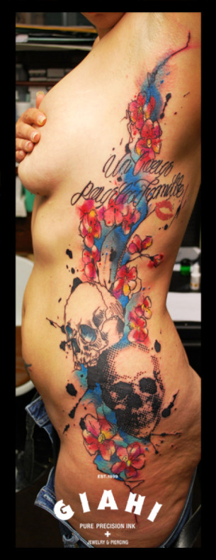 Dotted Skulls tattoo by Live Two