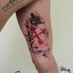Dove Red Arrows tattoo by George Drone