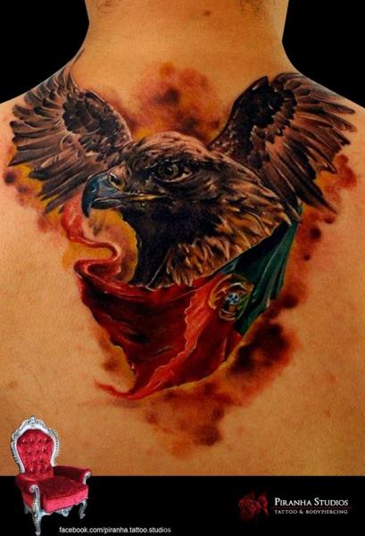 Eagle and Portugal Flag tattoo by Piranha Tattoo Supplies  Best