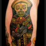 El Mariachi Chicano tattoo by Jack Gallowtree