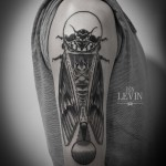 Enlarge Moth Fly Dotwork tattoo by Ien Levin