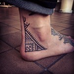 Ethnic Heel Right Angle tattoo by Papanatos Tattoos
