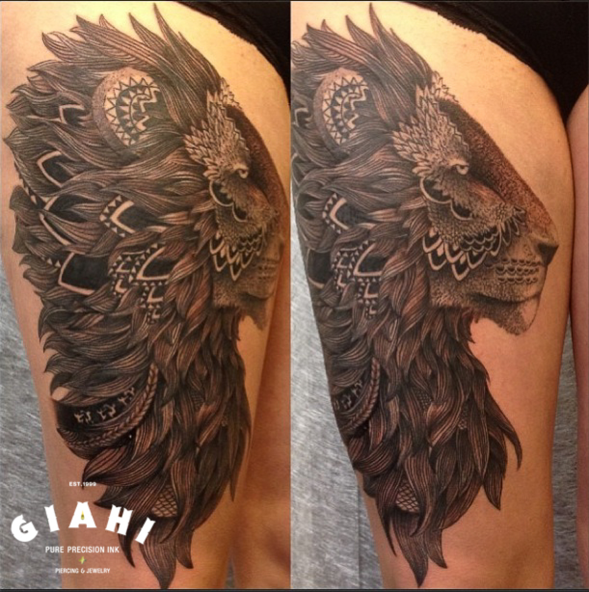Ethnic Mane Liwon Blackwork tattoo by Roony
