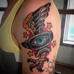 Eye Anvil New School tattoo by Destroy Troy Tattoos