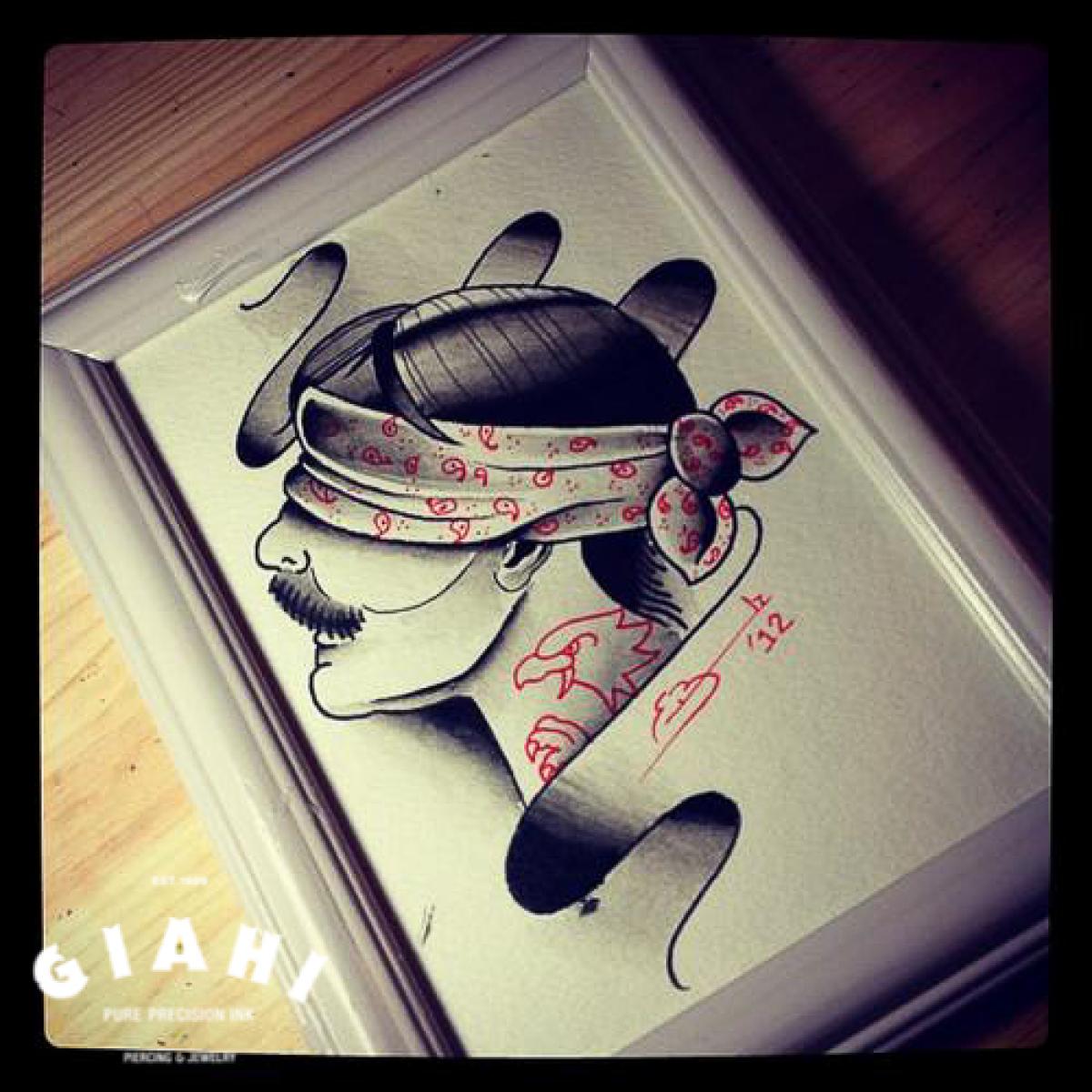 Eyes Closed Man tattoo idea by Elda Bernardes