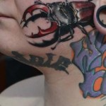 Face Beetle tattoo by Piranha Tattoo Supplies