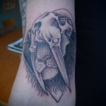Fang Skull Lion Dotwork tattoo by Papanatos Tattoos