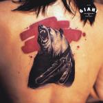 Feather Bear Blackwork tattoo by Agat Artemji