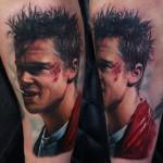 Fight Club Tyler Durden tattoo by Rich Pineda