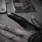 Finger Blackwork tattoo