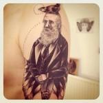 Fish Tails Man Graphic tattoo by Sarah B Bolen