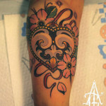 Flower Heart tattoo by Agat Artemji