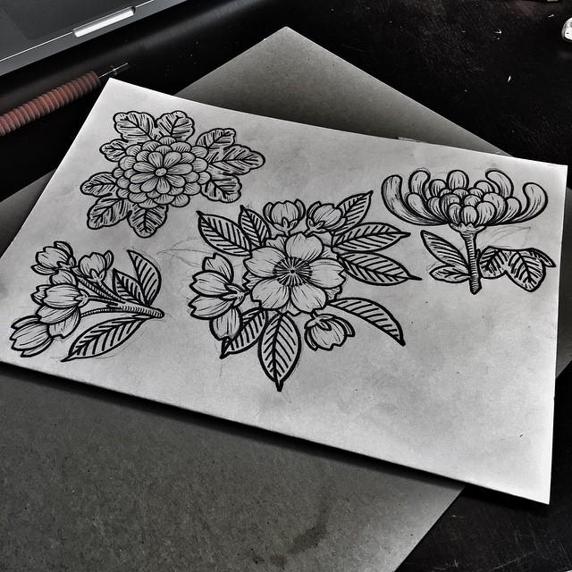 Flowers tattoo ideas by Kolahari