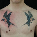 Fly Away Swallows tattoo by Skin Deep Art
