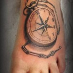 Foot Compass 3D tattoo by Roony