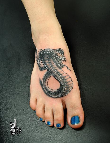foot graphic cobra snake tattoo by nazo best tattoo