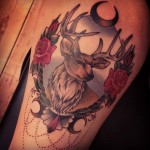 Frame Baroque Buck tattoo by Sarah B Bolen
