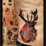 Framed Sad Moose tattoo by Jack Gallowtree