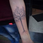 Fruit Tree Dotwork tattoo by Papanatos Tattoos