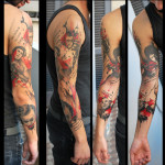 Gangsters Trash Polka tattoo sleeve by Live Two