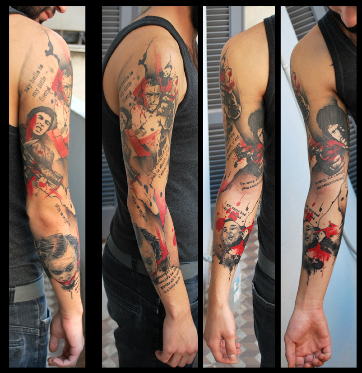 Gangsters Trash Polka tattoo sleeve by Live Two