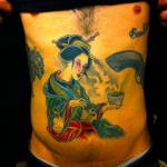 Geisha Hot Tea Japanese tattoo by Three Kings Tattoo