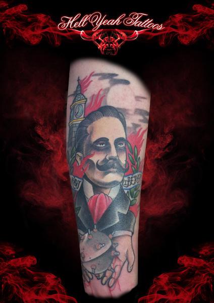 Gentleman Bomb tattoo by Hellyeah Tattoos