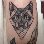 Geometry Cat tattoo by Susanne König