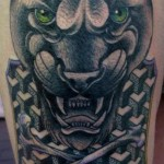 Geometry Panther Graphic tattoo by Nick Baldwin
