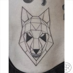 Geometry Wolf tattoo by Sven Rayen